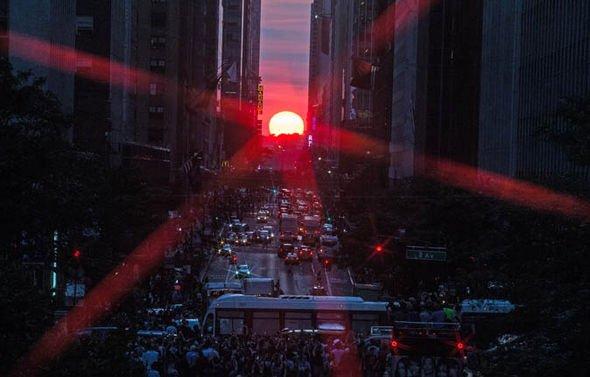 manhattanhenge sunset new york 951990