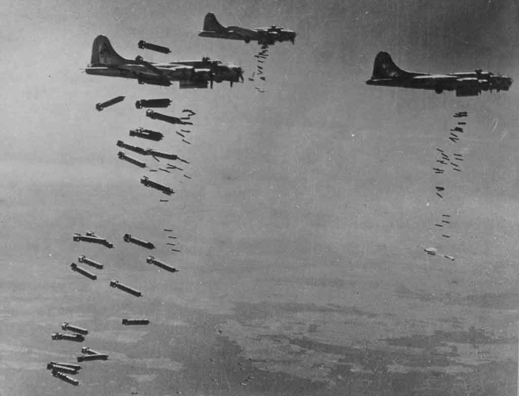 WAR FLIGHTS DROP BOMB