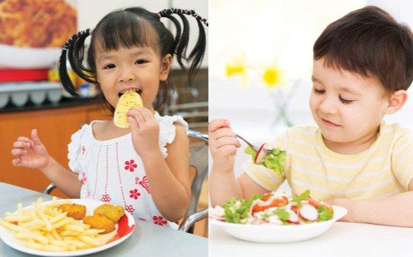 bad vs good eating habits