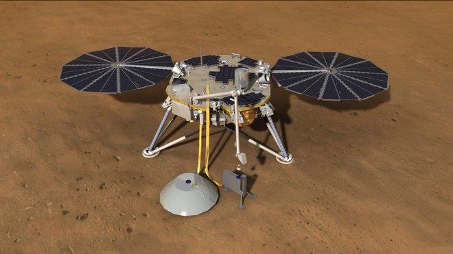 Martian surface by NASA's new InSight Mars