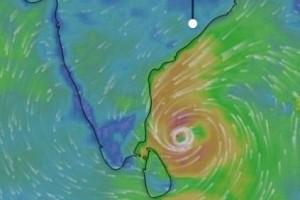 storm warning red alert as a severe cyclone named kaja may hit in tn thum