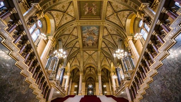 budapest parliament building interior