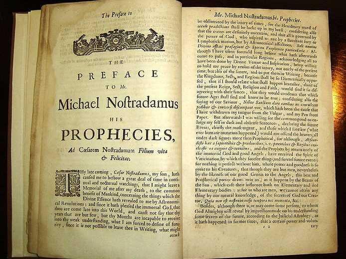 nostradamus book