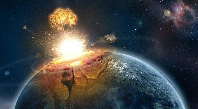 artist-impression-asteroid-impact-earth