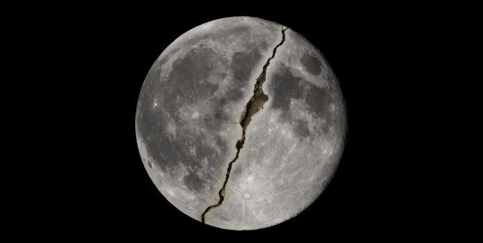 Splitting of the Moon