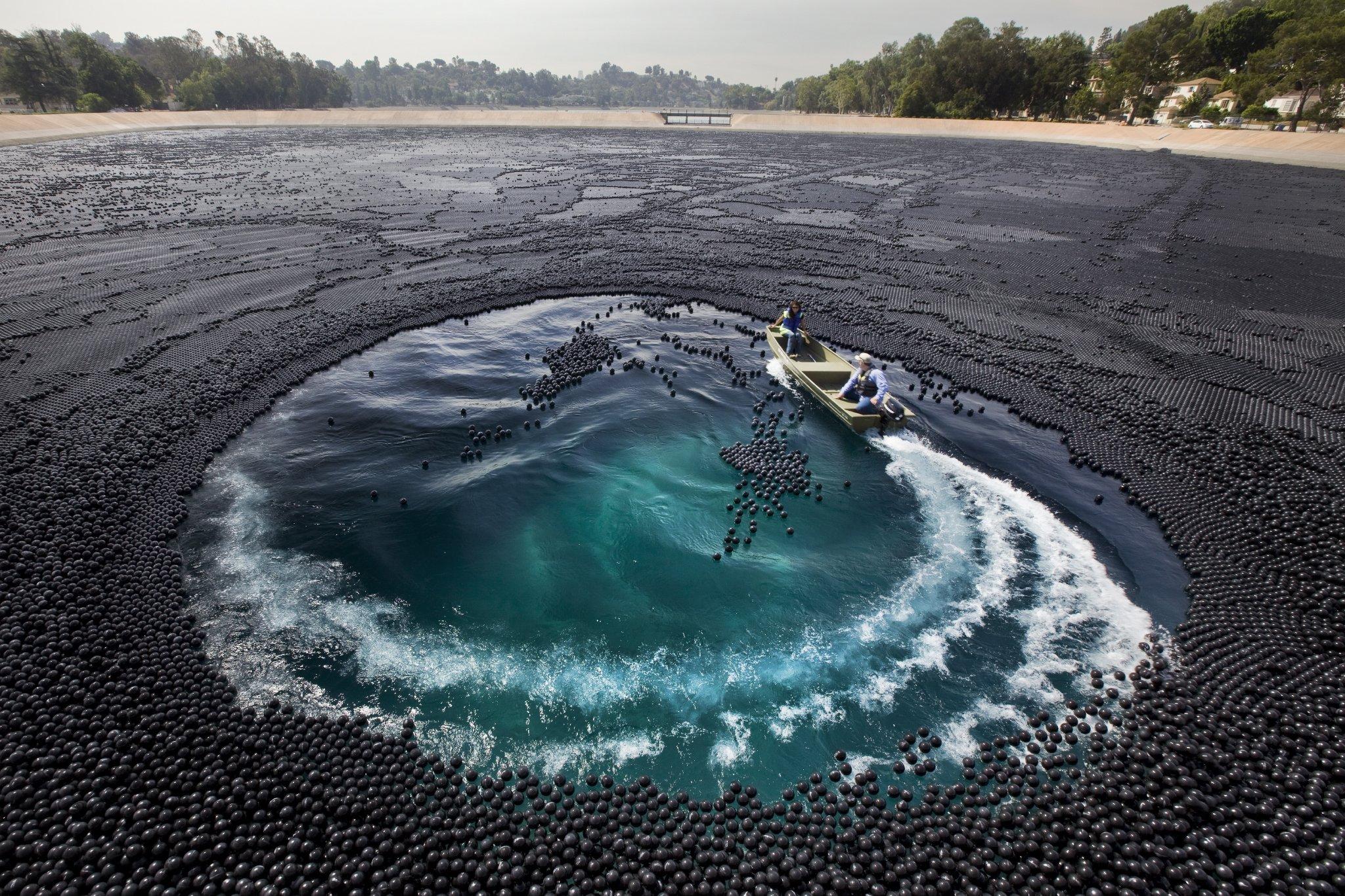 black shade balls covered