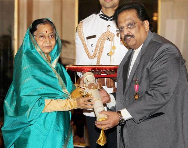 S P Balasubrahmanyam receives Padma Bhushan