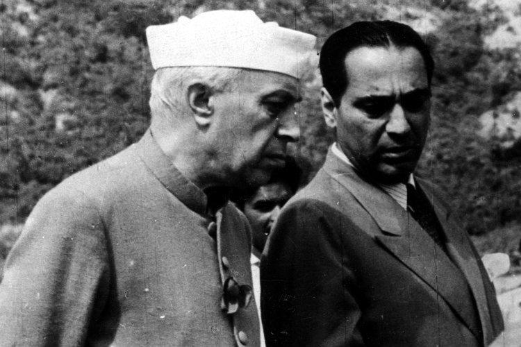 Homi Jehangir Bhabha with Jawaharlal Nehru
