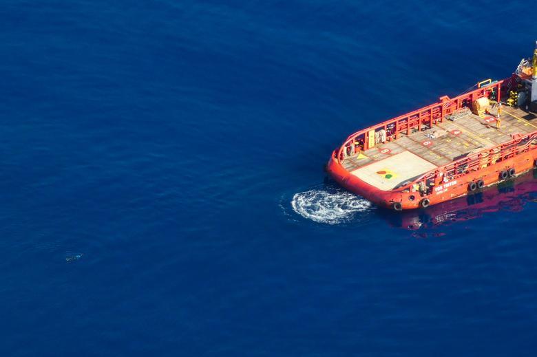 migrant swims Gibraltar rescue