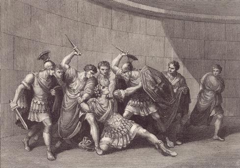 The-assassination-of-Caligula