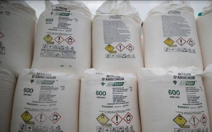 ammonium nitrate chemical explosive