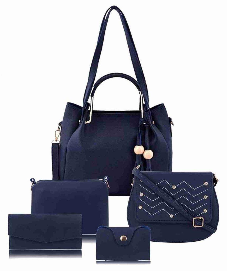 13 CARE4U Womens Handbag Blue Combo Set5