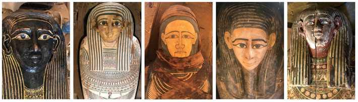 Egypt Saqqara Sarcophagi